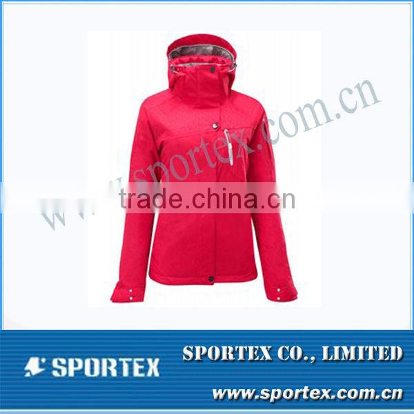 2014 Latest Embroided Logo OEM Ladies Ski Jacket