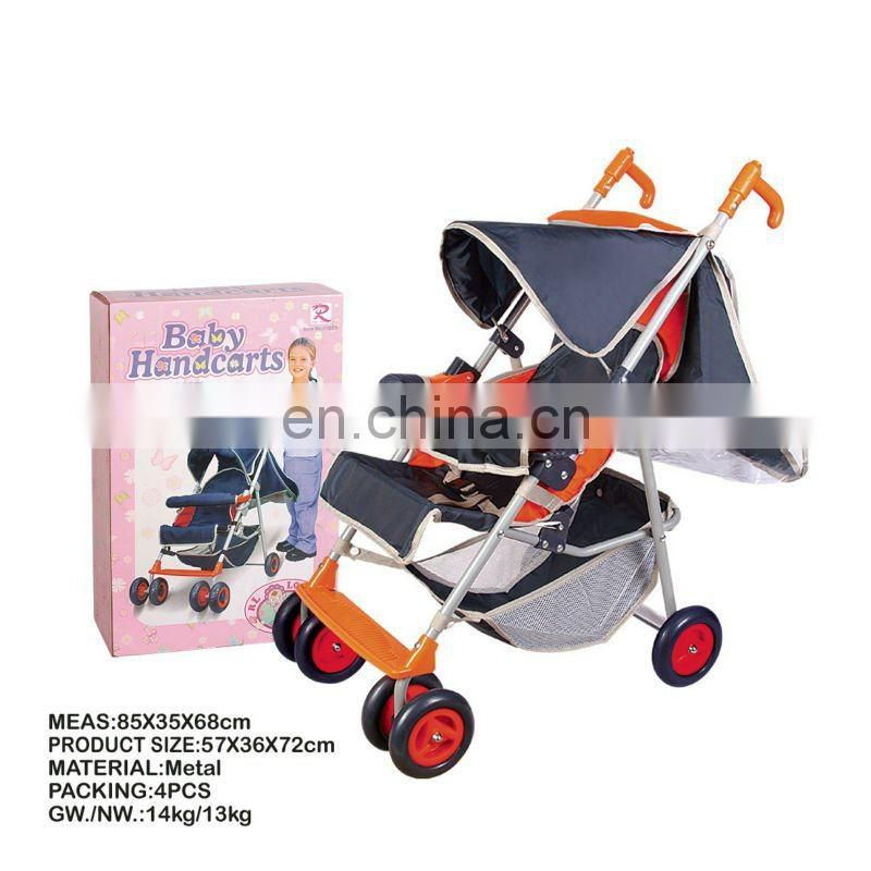 reversible handle baby pet stroller with shopping bag