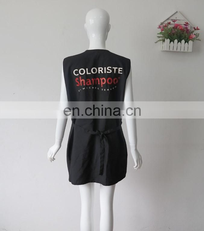 customized logo Water resistant Jacket Vest for salon apron