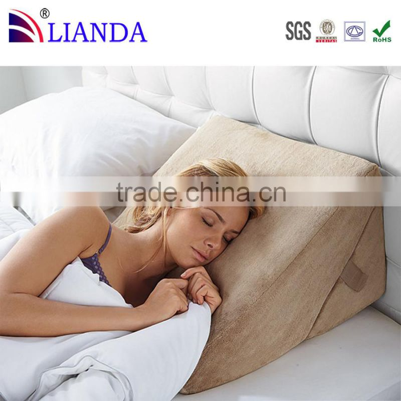 anti-snore wholesale alibaba memory foam leather back max bed wedge pillow