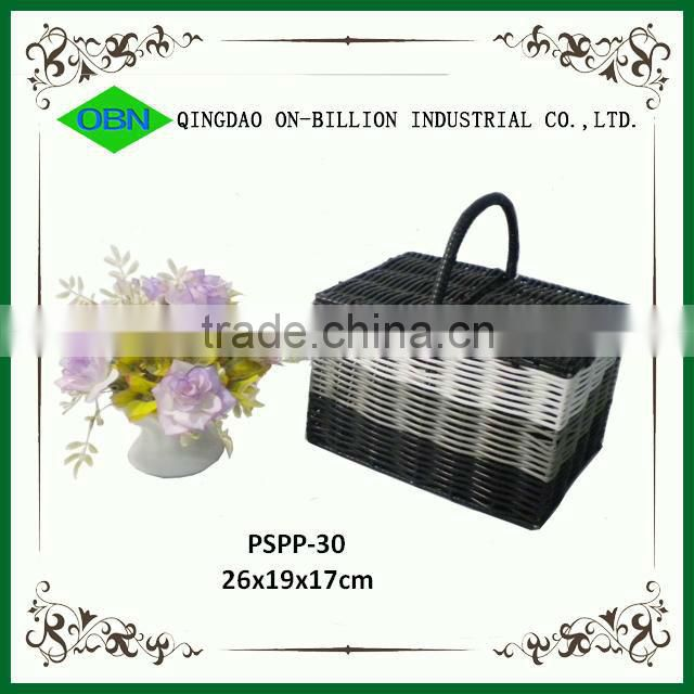 Cheap plastic shopping basket with handle