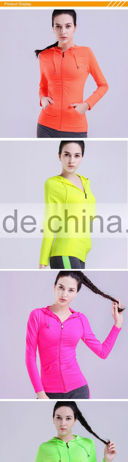 Hsz-102 China Wholesale Women Gym Sports wear overcoat sports tracksuits yoga clothing for ladies running clothes