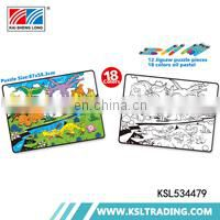 OEM 500pcs hot selling crayon painting kids and adults puzzle jigsaw toys