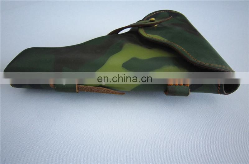 camouflage gun holster leather