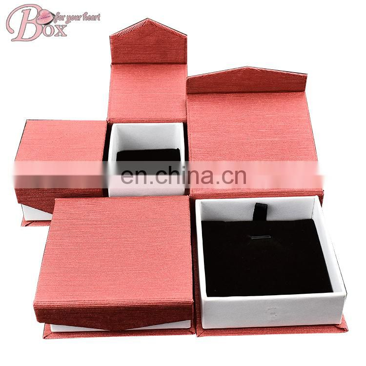 Set of Four light Pink Gril Jewellery Box