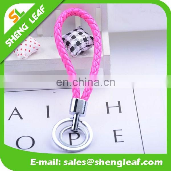 Promotional whole gifts colorful custom leather keychains