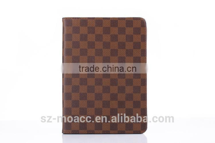 smart leather case for iPad air 2 with card holder and hand strap