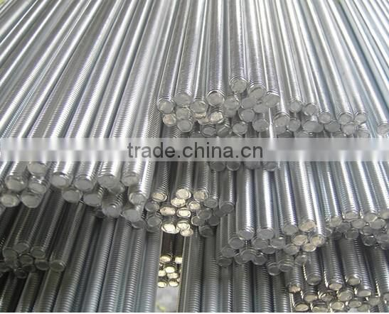 4.8 Grade zinc plated din975 and din976 cast iron threaded rod