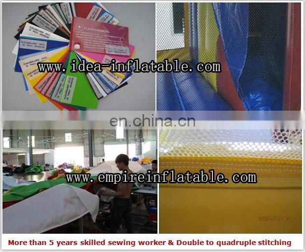 Hot design inflatable funny size adults playground water slide with pool ID-SLL023