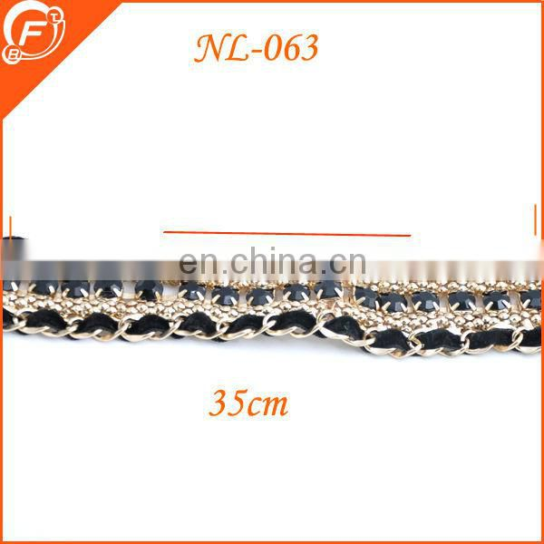 2014 hotsale rhinestone chain for women pink braid wedding decoration trimmings
