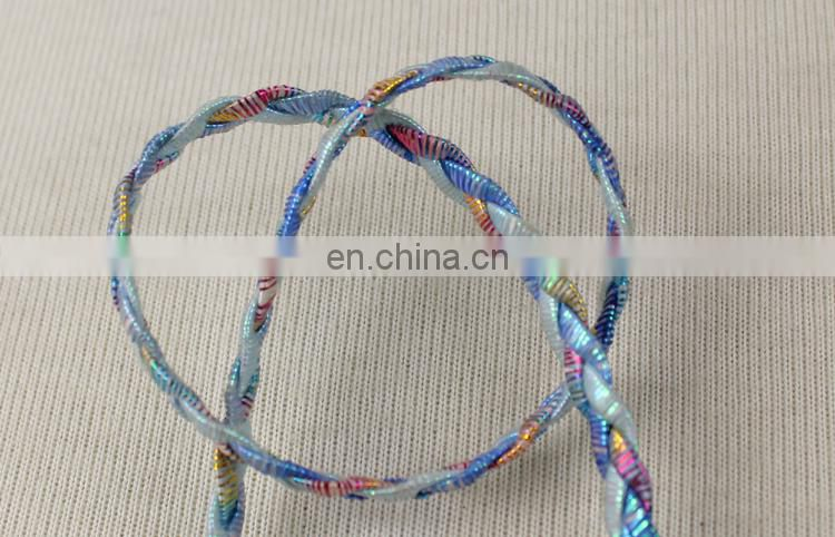2017 New style colorful shiny braided ribbon