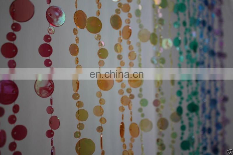 Rainbow Champagne Bubbles Beaded Curtains