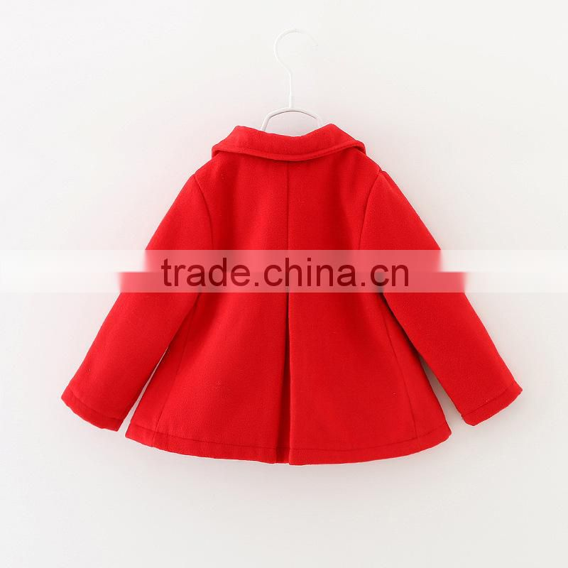 Brand Children's Garment Korean Girl Pure Cotton Wool Coats Baby Girl Autumn & Winter Outwear Image