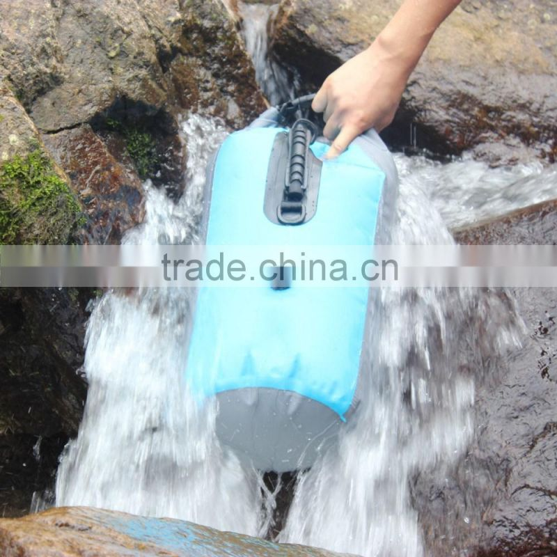 10L 20L water sport PVC tarpaulin waterproof dry bag with shoulder strap