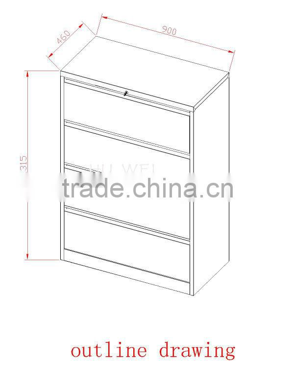 Vertical 4 drawer file locker for sale