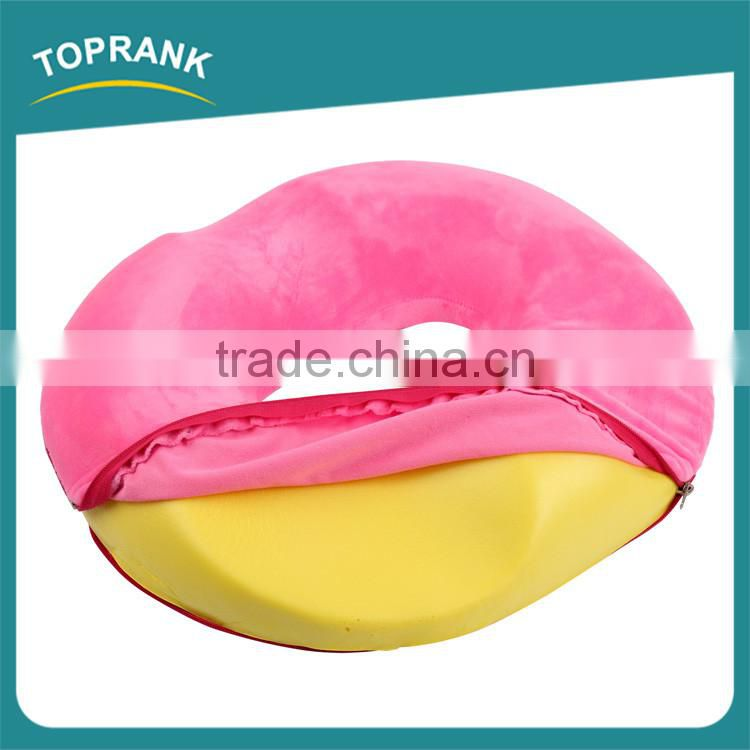 Custom color car office healthy comfort memory foam round chair seat cushion