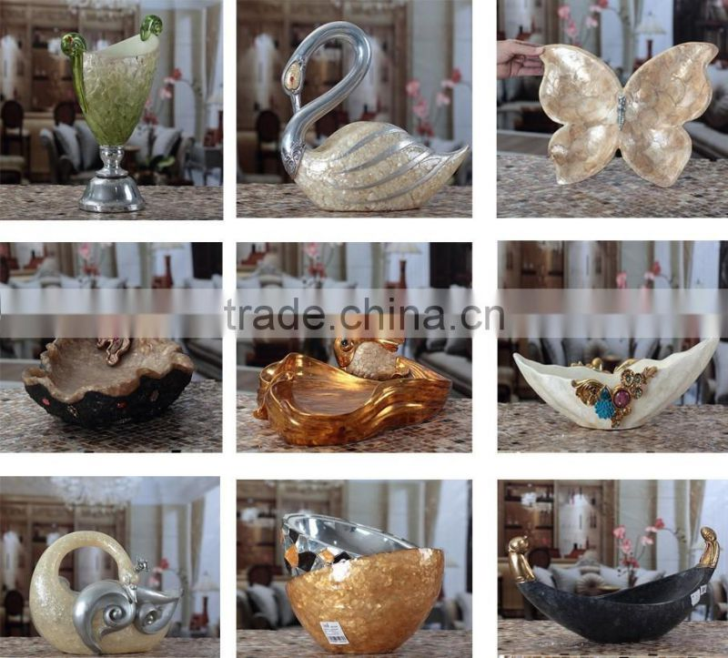 Silver table centerpiece fish shape resin fruit tray for wedding NTRS-TD005A