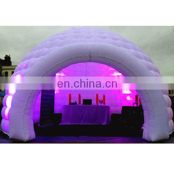 inflatable Igloo in pink led lights for wedding decorations