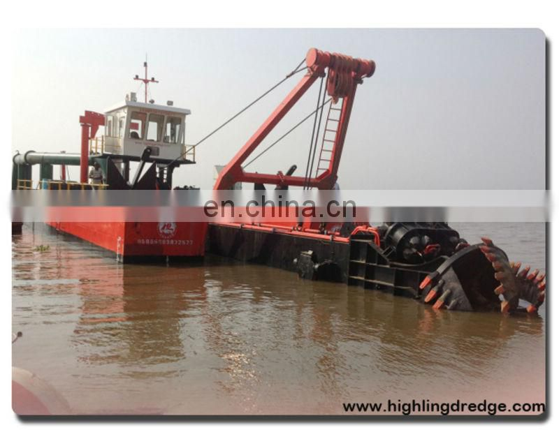Sand dredger machinery in river or sea for sale Image