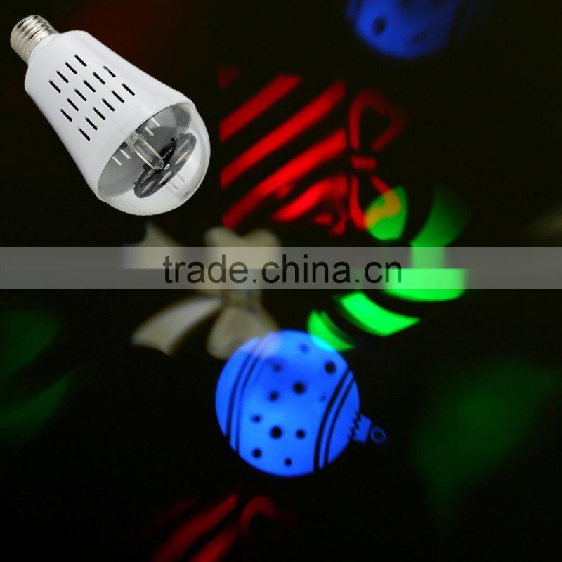 2016 Hot Selling 4W power Rotating LED RGB Lamp E27 RGBW LED Bulb Light Many Patterns for your Choice