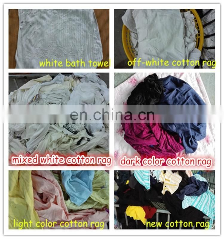 cotton t-shirt wipers well cutted recycled cotton wiping rags for cleaning machine