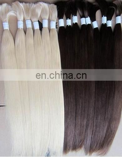 high quality tangle free non-remy asian hair bulk wholesale