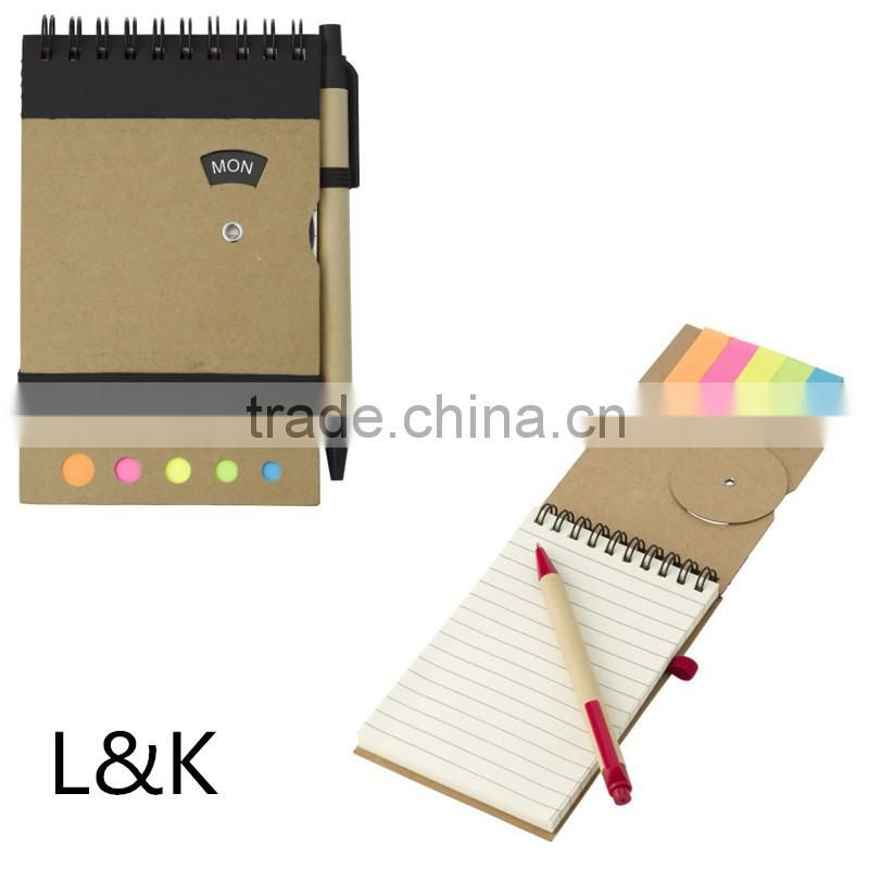 new design notebook with pen attached/custom journal book printing