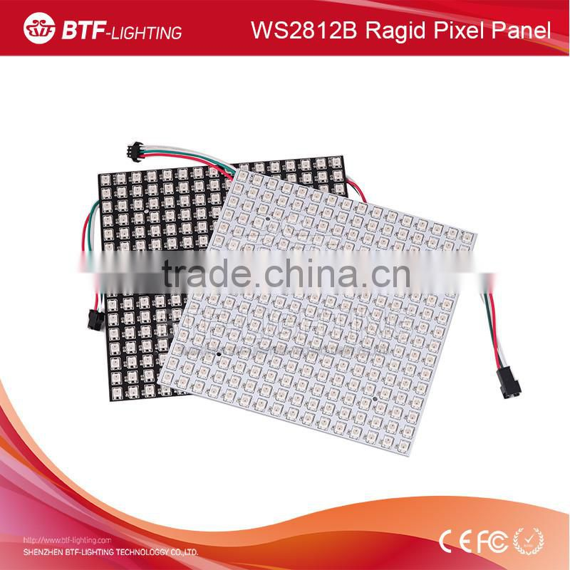 16*16 256 WS2812B Ragid Matrix Pixel Addressable LED Screen Board Pixel LED Panel Light Hard screan,White/Black DC5V Image