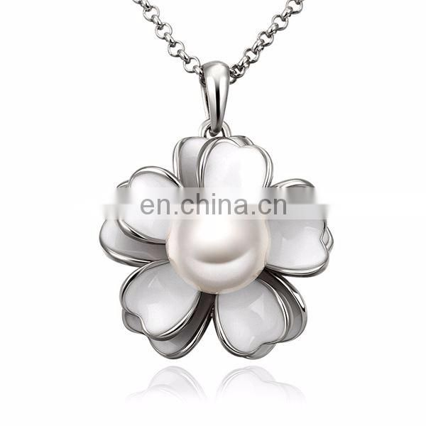 20 Gram Gold Plated Necklace with Sweet Flower Pendant Special Design for women