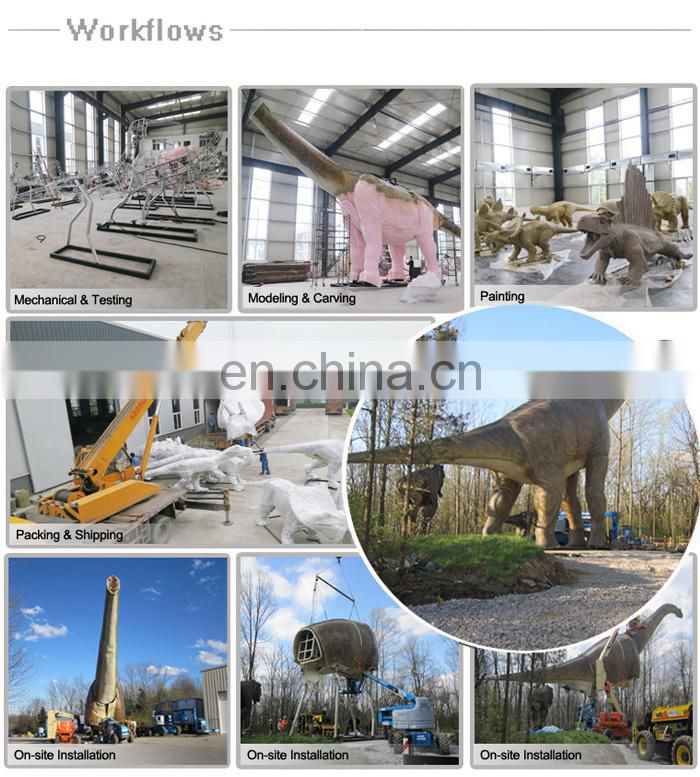 Outdoor Theme Park Infrared Sensor Thrilling Simulation Dinosaur