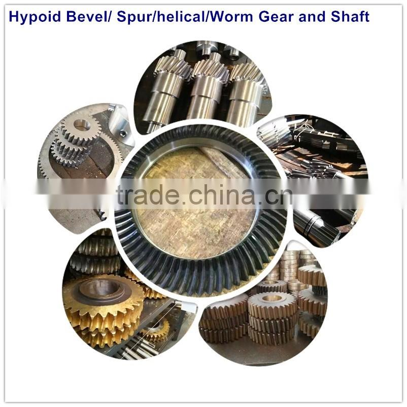 worm gears auto spares parts motorcycle engine parts Helical Spiral Bevel Gear Transmission Parts for towing truck