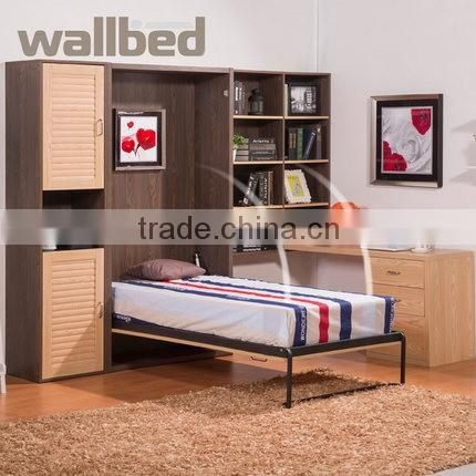 Folding Wall Mounted Bed Murphy Bed with the moving bookshelf SZ-WBA5001