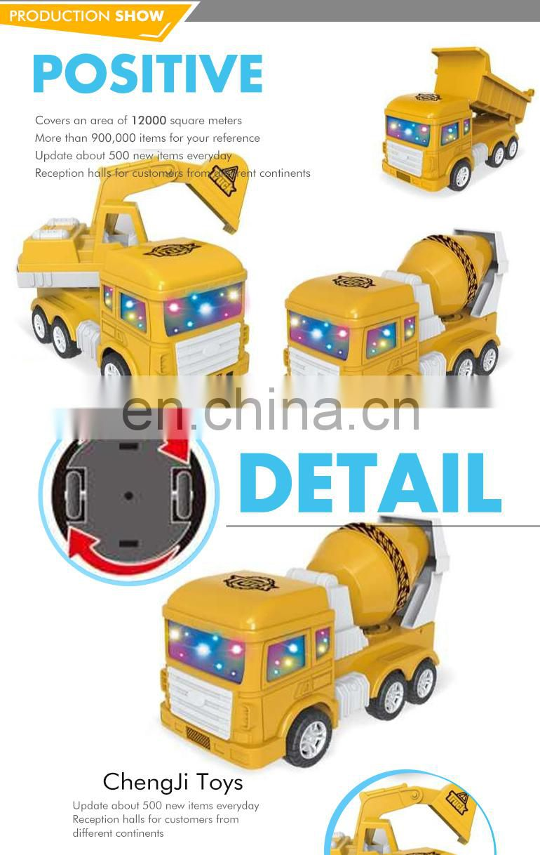 High quality electric universal lighting musical super power toy trucks