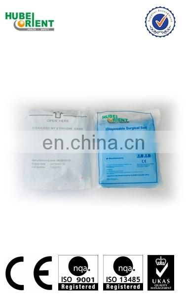 Medical non woven sheet disposable sterile non woven dressing sets/surgical gown set