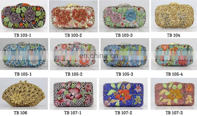 New arrival luxury crystal stones clutch evening bags,beaded evening bag for party bags