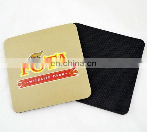 square rubber drink coasters