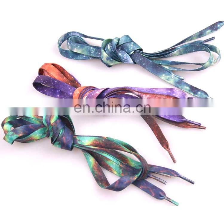 Custom printed Wholesale Sublimation flat shoelaces