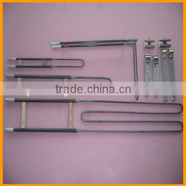 high temperature 1800C industrial oven U shape electric MoSi2 molybdenum disilicide heater rod