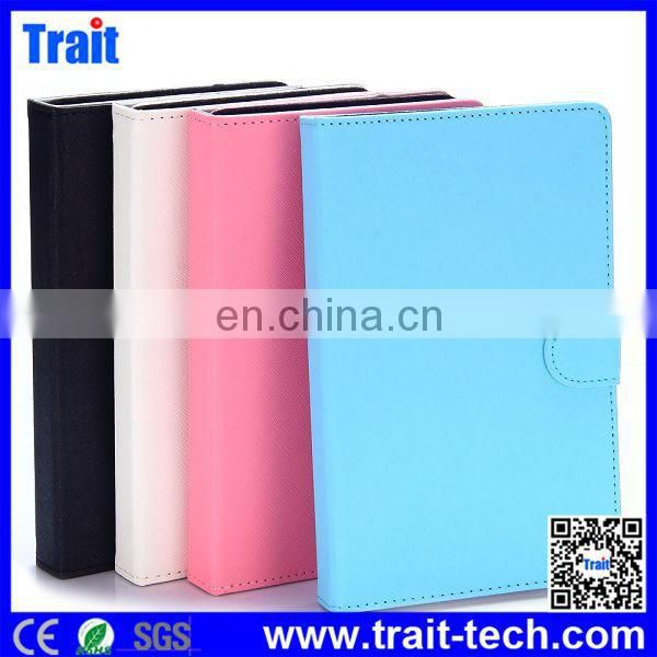 Wholesale Price for Cross Pattern With Card Slot Detachable Soft Surface Leather Case for 7 inch Tablet pc