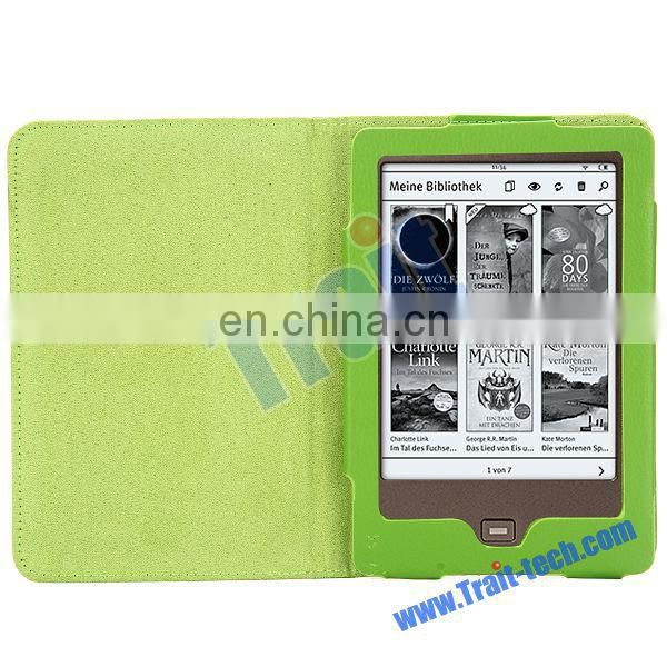 Lichee Pattern Side Flip PU Leather Case for Tolino Shine
