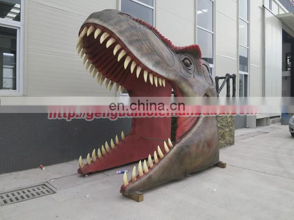 Outdoor high quality theme park dinosaur gate for sale