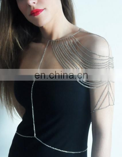 Europe fashion sexy elastic Spandex body chain bra body chain necklace