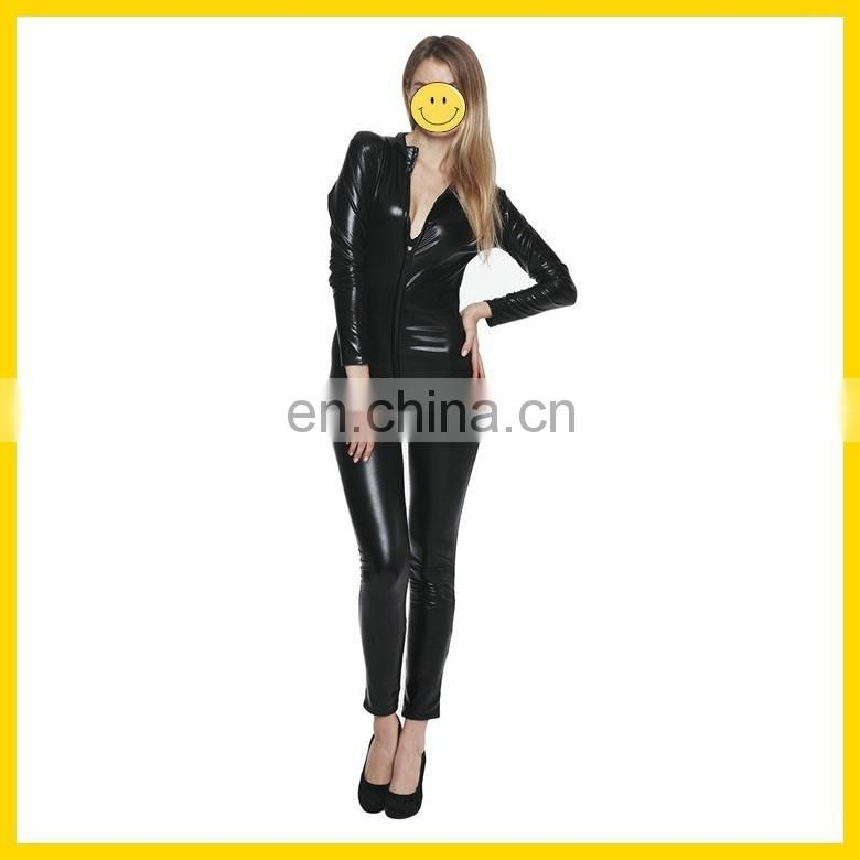 Sexy Costumes Women Latex Catsuit Red Black 2 colors Pole Dance PVC Bodysuits Erotic Leotard Sexy Lingerie Hot Image