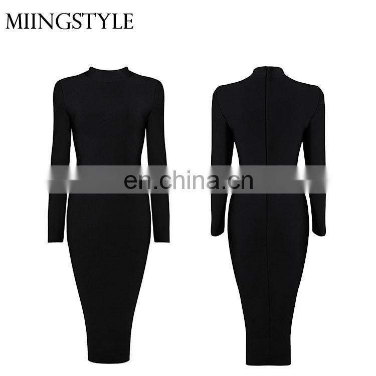 2016 Women Party Dresses Long Sleeve Sexy Club Winter Dress Bodycon Bandage Dress