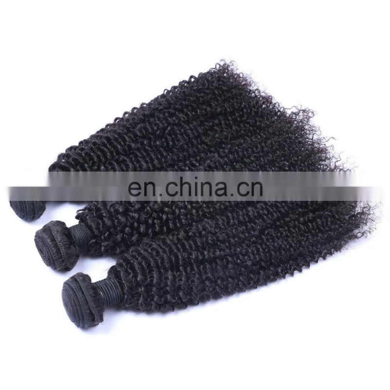 Wholesale peruvian hair bundles natural black color tight kinky curly hair weaving for afro black women