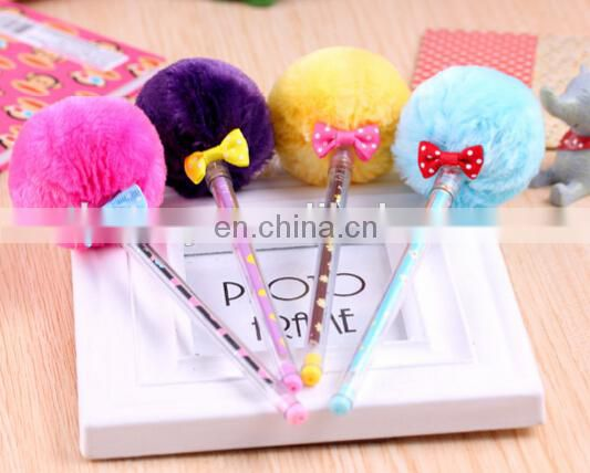 pom pom pen fur gel ink pen