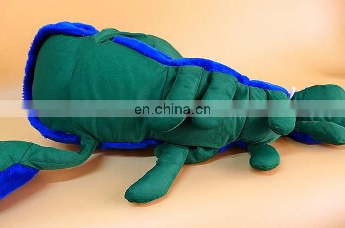 big eyes embroidered lobster plush stuff toy blue