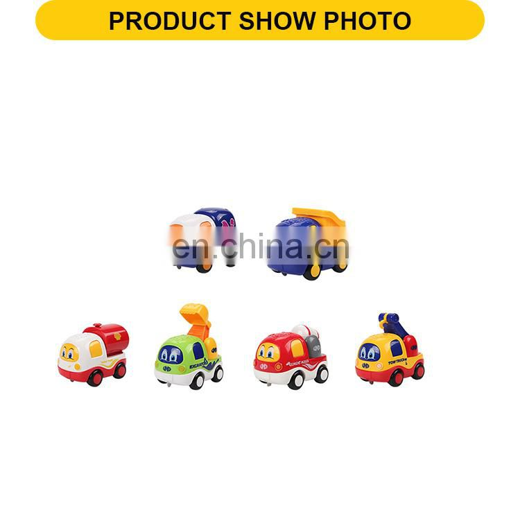 9 cm cute mini friction toys engineering vehicle toys car