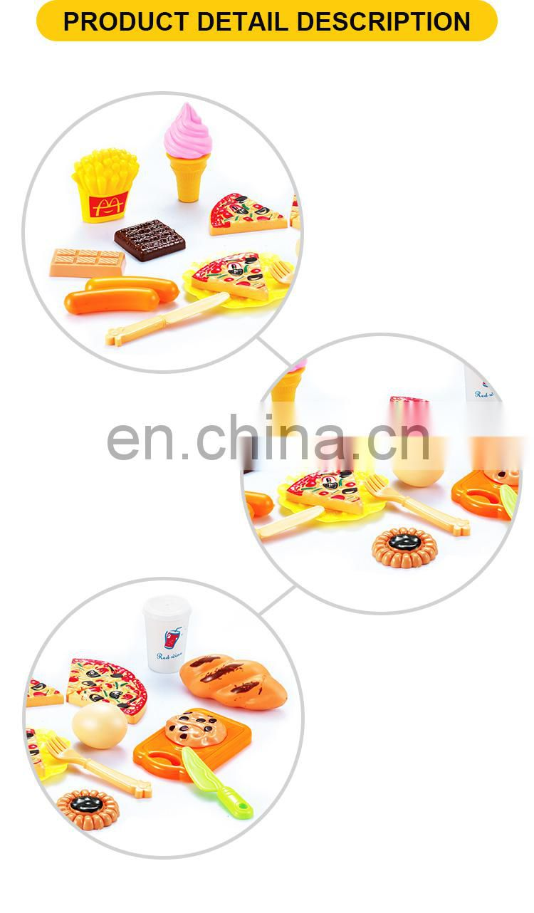 Plastic food kitchen toys cute funny toys for children