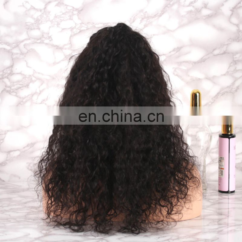 Alibaba 2018 fashion hot selling human hair full lace wig with baby hair